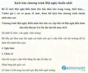 5 Kich Ban Chuong Trinh Hoi Nghi Pho Bien