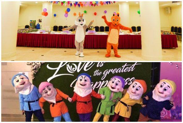 Tổ chức tết trung thu với những nhân vật hoạt hình ngộ ngĩnh mà các bé thích thú