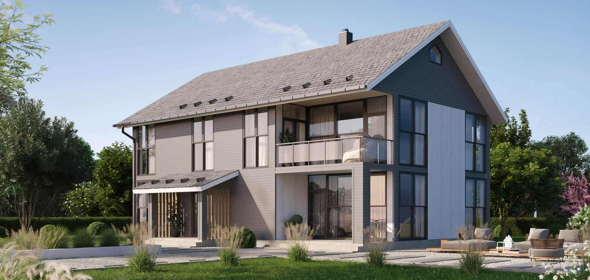 Log & Prefabricated houses directly from producer | Palmatin.com